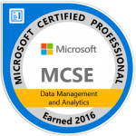 Logo MCSE Data Management Analytics, Walter Putz | SQL Solutions