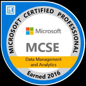Logo MCSE Data Management Analytics, Walter Putz   SQL Solutions