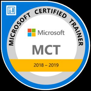 Logo Microsoft Certified Trainer 2018-2020, Walter Putz   SQL Solutions