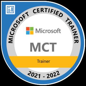 Microsoft Certified Trainer 2021 2022